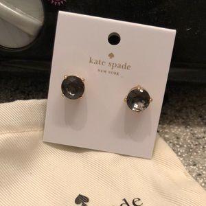 Kate Spade Small Gumdrop Black Diamond Studs